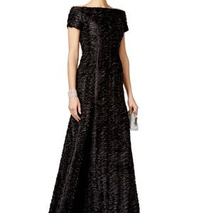 B Michael America Red Collection Textured Gown